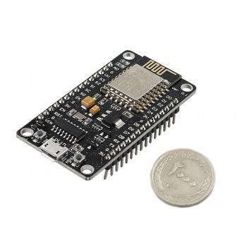 برد توسعه NodeMcu دارای هسته وایفای ESP8266 و مبدل CH340G