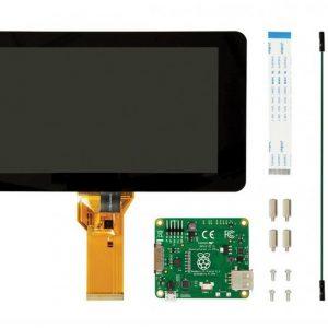 نمایشگر و تاچ اسکرین خازنی ۷ اینچ رزبری پای Raspberry Pi – محصول Element 14